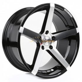 "JANTE Z-PERFORMANCE ZP.06 DEEP CONCAVE PHANTOM BLACK/POLISH 8.5x19"" - 5x120 - ET35 - Ø72.6mm"