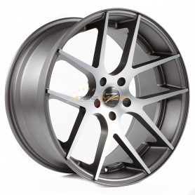 "RIM Z-PERFORMANCE ZP.07 DEEP CONCAVE MATT GUNMETAL/POLISH 8.5x19"" - 5x120 - ET35 - '72.6mm'"