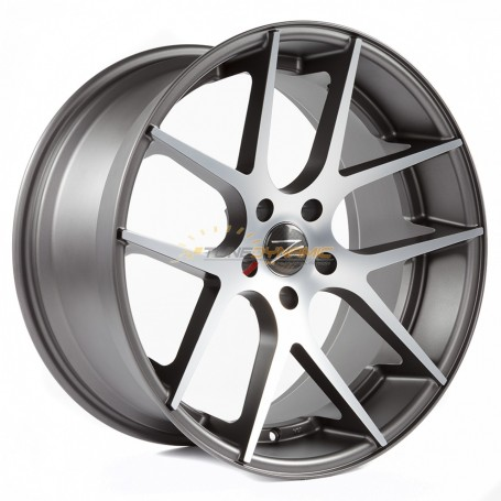"JANTE Z-PERFORMANCE ZP.07 DEEP CONCAVE MATT GUNMETAL/POLISH 8.5x19"" - 5x120 - ET35 - Ø72.6mm"